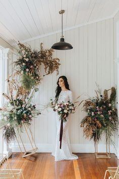 Modern botanical wedding ceremony with gravity defying, balancing floral pillars featuring blush roses, textured greenery and dried foliage in an Autumn palette   Mallory Sparkles Photography #weddingpillars Wedding Pillars, Wedding Ceremony, Wedding Gowns, Wedding Venues, On Your Wedding Day, Perfect Wedding, Dream Wedding, Wedding Trends, Wedding Tips