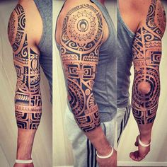 Maori Half Sleeve Tattoo by Danandout Polynesian Sleeve Tattoo, Polynesian Tattoo Designs, Maori Tattoo Designs, Samoan Tattoo, Black Sleeve Tattoo, Full Sleeve Tattoo Design, Half Sleeve Tattoos Designs, Full Sleeve Tattoos, Manga Tatoo
