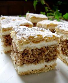 Torte Cake, Cake Bars, Bakery Recipes, Dessert Recipes, Desserts, Cooking Recipes, Healthy Recipes, Croation Recipes, Bosnian Recipes