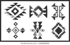 Image vectorielle de stock de Navajo Aztec Border Vector Illustration Page 259728050 Motif Navajo, Navajo Pattern, Tribal Patterns, Graphic Patterns, Beading Patterns, Native American Patterns, Native American Beading, Tribal Background, Grunge