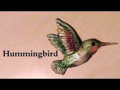 ▶ I'm pretty sure you will love this polymer clay tutorial; Elegant Hummingbird Charm - YouTube.