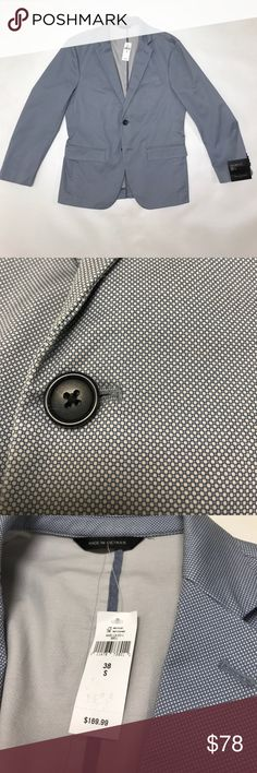 Mens Banana Republic Tailored Fit Blazer 38 ***MSRP $170*** New with Tags - never worn. Tailored Fit - cot size 38-s. From a proudly smoke-free home. Banana Republic Suits & Blazers Sport Coats & Blazers