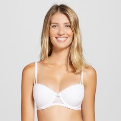 Women's Push-Up Balconette Bra True White 32DD
