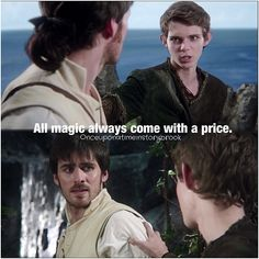 """Colin O'Donoghue as Captain Hook and Robbie Kay as Peter Pan from the TV Show """"Once Upon A Time""""."""