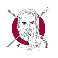 Christopher lee, stars wars and lord of the rings @daniel.design