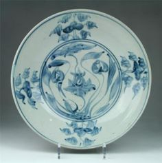 Very large antique 16/17thc Chinese blue & white Zhangzhou Swatow porcelain bowl