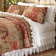Take your bedding ensemble to the next level with our ruffle sheets and bedskirt set. Give your bedding ensemble added dimension and visual appeal with our ruffle sheets and bedskirt. Home Decor Bedding, Home Bedroom, Master Bedroom, Room Decor, Summer Quilts, White Bedding, Quilt Sets, Beautiful Bedrooms, Bed Spreads