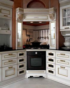 Love the idea of a corner stove
