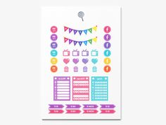 Lollipop v2 Planner Spread for Erin Condren Vertical Planner