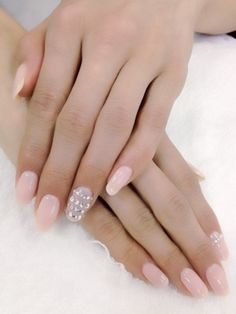 Bridal nails. Get the Look at Polished Nail Bar Milwaukee's #Eastside and #Brookfield www.Facebook.com/NailBarPolished