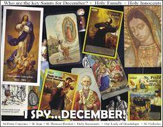 I spy...the Saints! Equipping Catholic Families: Equipping Catholic Families for DECEMBER and ADVENT!