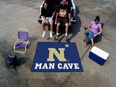 Man Cave Tailgater Area Rug - U.S. Naval Academy Midshipmen