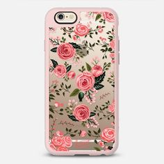 PINK FLORAL ROSES - New Standard Case in Pink Gray & Clear by @HarvestPaperCo | @casetify