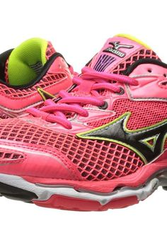 Mizuno Wave Creation 18 (Diva Pink/Black/Safety Yellow) Women's Running Shoes - Mizuno, Wave Creation 18, 410777-1390, Footwear Athletic Running, Running, Athletic, Footwear, Shoes, Gift, - Fashion Ideas To Inspire