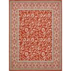 Transitional Rust Red 9 ft. x 12 ft. Area Rug