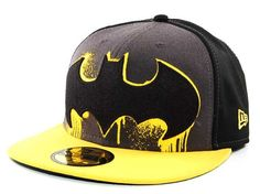Batman graffiti style logo New Era fitted hat
