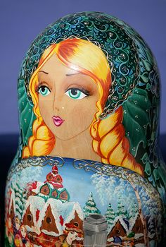 hand painted Russian Matryoshka doll