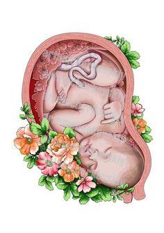 Bellas imágenes para mamás | Bebeazul.top -  Bellas imágenes para mamás | Bebeazul.top  - #bebeazul #Bebeazultop #bellas #imagenes #mamas #para Birth Art, Pregnancy Art, Early Pregnancy, Human Anatomy Art, Mother Art, Belly Painting, Medical Art, Midwifery, Baby Art
