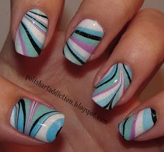 Polish Art Addiction: Inspired to Water Marble