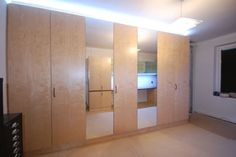 Wentel wallbed in bespoke cabinetry with LED lighting