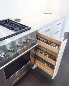 Read this short article today which speaks about Small Kitchen Renovation Kitchen Cooker, Kitchen Pantry Cabinets, Kitchen Redo, Kitchen Remodel, Kitchen Ideas, Small Kitchen Organization, Spice Organization, Kitchen Storage, Organized Kitchen