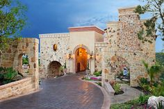 Tile Driveway, Sloped Driveway, Driveway Tampa, Additions Montana,  And Flat Roof - Mediterranean Exterior By Vanguard Studio Inc.