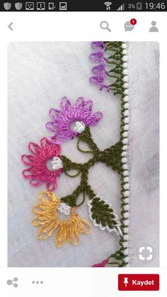This Pin was discovered by HUZ Needle Lace, Needle And Thread, Tatting, Crochet Unique, Sticker Chart, Printable Chore Chart, Lace Making, Shabby, Sewing Hacks