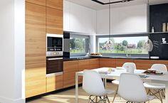 Domy z wizją - Z widokiem 2 Small Kitchen Storage, Kitchen Sets, Kitchen Cupboards, Kitchen Room Design, Modern Kitchen Design, Interior Design Kitchen, Dyi Kitchen Ideas, Diy Kitchen Decor, Home Decor