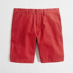 $24, Red Shorts: J.Crew Factory Factory 9 Lightweight Gramercy Short. Sold by J.Crew Factory. Click for more info: https://lookastic.com/men/shop_items/61080/redirect