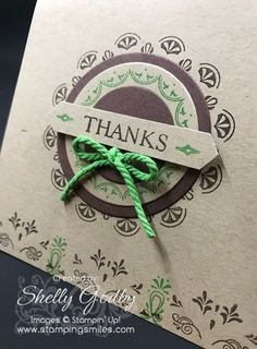 Have you seen the new 2017 Sale-a-bration Make a Medallion Stamp Set? I used it to make a quick Stampin' Up! Make a Medallion Note Card. Eastern Palace, Thanksgiving Cards, Cute Cards, Stampin Up Cards, Irene, Middle East, Card Ideas, Card Making, Lily