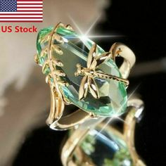 Buy Modyle 2018 New Retro Green Stone Gold Color Dragonfly Ring Bague for Women Girl Anniversary Birthday Gift Jewelry Shiny Anillos Ring Set, Ring Verlobung, Jewelry Gifts, Jewelry Accessories, Cheap Jewelry, Jewelry Shop, Fine Jewelry, Wedding Jewelry, Handmade Jewelry