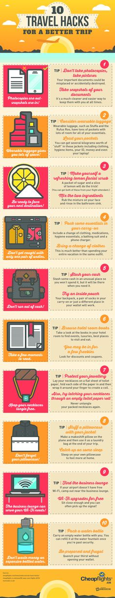 10 consejos para planear mejor tus viajes.