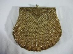 Vintage 60's Gold Purse Beaded Handbag by 1stand2ndTimeAround