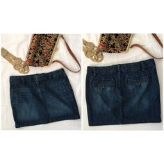 GAP Denim Skirt Adorable denim skirt!  Material is 99/1 cotton and spandex. GAP Skirts Mini