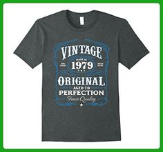 Mens Vintage Made In 1979 Birthday Gift T-Shirt Large Dark Heather - Birthday shirts (*Amazon Partner-Link)