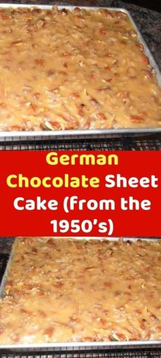 German Chocolate Sheet Cake (from the Ingredients: 1 pkgbaker's german sweet chocolate ou Sheet Cake Recipes, Cupcake Recipes, Cupcake Cakes, Dessert Recipes, Sheet Cakes, Cupcakes, Sheet Cake Pan, Food Cakes, Köstliche Desserts