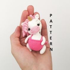 Crochet PATTERN in English amigurumi toy white unicorn Stuffed unicorn toy Pdf crochet pattern unicorn Forest animal Baby toy gift Rabbit Toys, Bunny Toys, Crochet Bear, Crochet Birds, Crochet Unicorn, Handbag Patterns, Toy Puppies, Amigurumi Toys, Crochet Patterns Amigurumi