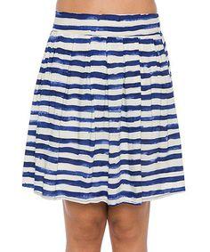 Look at this #zulilyfind! Lavand Blue Stripe Skirt by Lavand #zulilyfinds