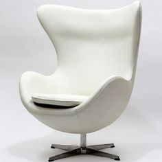 Jacobsen Style Egg Chair in Leather (Multiple Colors/Materials) | Designer Reproduction