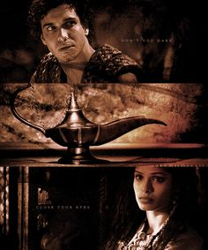 When did you last let your heart decide? - Elyes Gabel as Aladdin, Freida Pinto as Jasmine