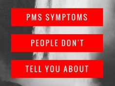 Have you ever wondered if your PMS symptoms are normal? I spoke to a bunch of women about PMS and learnt there's more symptoms than you think!