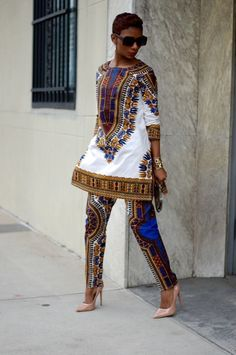 Dashiki ღ ♡ ♡ ღ ~ Ghanaian fashion ~DKK African Dresses For Women, African Print Dresses, African Attire, African Wear, African Fashion Dresses, African Women, African Prints, African Style, Ankara Fashion