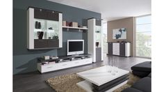 Obývačka Manhattan Biela arctic / Grafit Manhattan, Flat Screen, Living Room, Blood Plasma, Flatscreen, Home Living Room, Drawing Room, Lounge, Dish Display