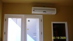 Mini-split indoor system installed Bathroom Medicine Cabinet, Kitchen Appliances, Coding, Indoor, Mini, Home, Diy Kitchen Appliances, Interior, Home Appliances