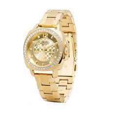 Women's Wrist Watches - Coach Womens 14501700 Mini Boyfriend Gold Tone Bracelet Watch *** Visit the image link more details. (This is an Amazon affiliate link)