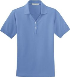 Port Authority - Ladies 100% Organic Polo Sport Shirt L496 - Large - Blueberry Port Authority. $13.28