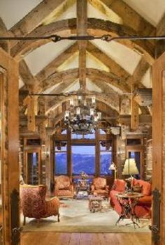 This is am example of transition. The beams bring you in to the room by a slow transition towards it.