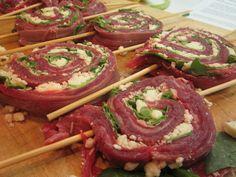 Rachel Ray flank steak pinwheels. Gotta try these!!