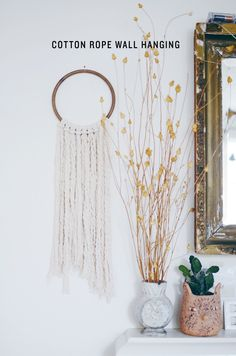 DIY Cotton rope wall hanging : MichaelsMakers CAKIES