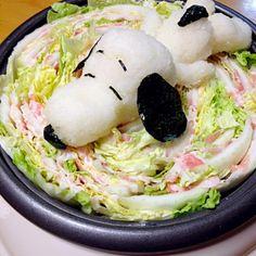 スヌーピー大好きだったゆ〜ちんちゃん… 笑ってくれるかな いや、怒られちゃうかな - 872件のもぐもぐ - ゆ〜ちんちゃんに届け!ミルフィーユ鍋 by saganecchi